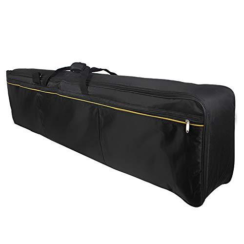 ammoon Funda Acolchada Portatil para Piano Electrico de 88 Teclas, Bolsa para Teclado Electrónico de 88 Teclas, Material de Tela Oxford