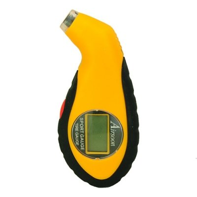 Car Gadgets Mini and Practical LCD Auto Digital Sport Guag for Car-Yellow