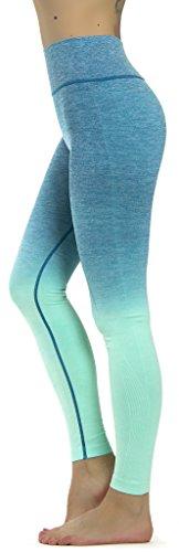 Prolific Health Fitness Power Flex Yoga Pants Leggings XS - XL (Medium, Ombre Aqua)