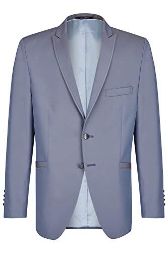 Wilvorst Sakko zum Hochzeitsanzug Keith, Blau-Grau in Event Changeant, Slimline, Modern Fit Größe 48
