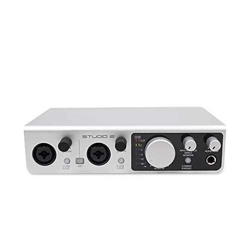QYH 2 En 2 De Ordenador Tarjeta De Sonido Externa USB del Profesional De Audio Interfaz del Teléfono Móvil De Grabación De Canto Vivo transmisión en Vivo
