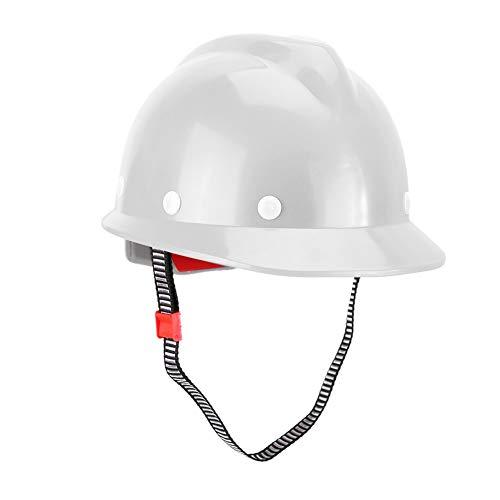 Casco antigolpes, Material FRP resistente al envejecimiento Sombrero de seguridad ligero, Limpiador clásico para trabajadores para mineros soldadores(white)