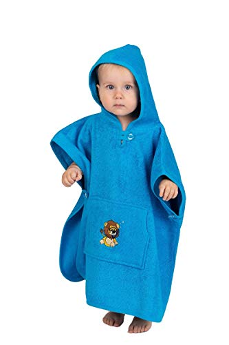 Baby Bade Poncho wewofashion by Otto Werner 8029 Blau Leo ( 1-3 Jahre )