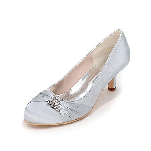 Zapatos De Novia De Satén con Tacón De Gatito Zapatos De Noche...