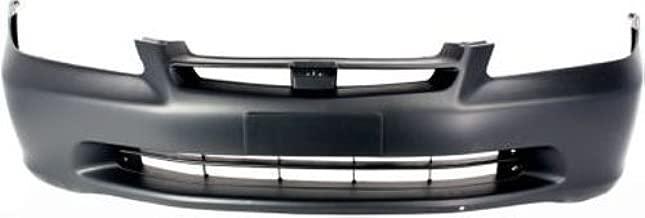 Crash Parts Plus Primed Front Bumper Cover Replacement for 1998-2000 Honda Accord Sedan