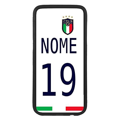 Carcasa Funda de móvil Personalizada con tu Nombre y número de la selección Italiana para J5 (2017) Funda de Goma Flexible TPU Borde Negro CREA tu diseño para la eurocopa 2021 Samsung Galaxy