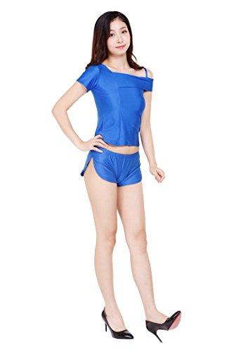 ツルツルニット ゆったりさが可愛すぎる ショートパンツ ホットパンツ 超特大100kgサイズ, 青