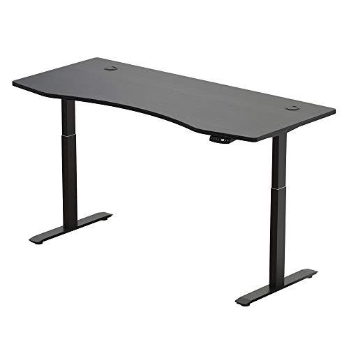 Hi5 Schreibtisch Höhenverstellbar Elektrisch Mit Memory Funktion Ergonomischer Stehtisch Mit Teleskop Tischgestell 180 x 80 cm Oder 150 x 78 cm (Schwarz-Schwarz 180x80cm)