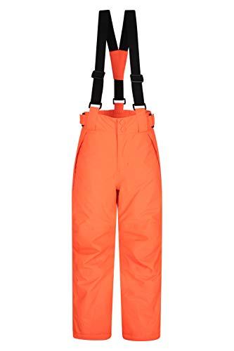 Mountain Warehouse Falcon Extreme Skihose für Kinder - Winterhose, Schneehose, wasserfeste Kinderhose, Schneegamaschen, Sicherheitstaschen- Für Skiurlaub Orange 11-12 Jahre