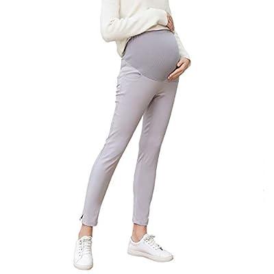 JOYNCLEON Pregnant Women Work Pants Stretchy Maternity Skinny Ankle Trousers Slim for Women