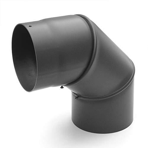 raik SH030-150-gg Rauchrohrbogen/Ofenrohr 150mm - 0°-90° gussgrau