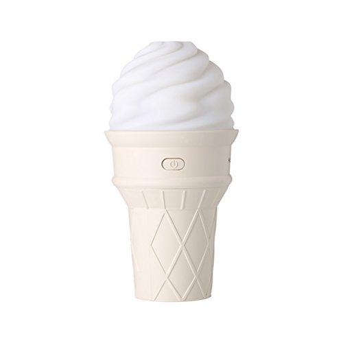 VORCOOL Mini Humidificador Ultrasónico de Niebla de Modo Ice Cream con LED Humidificador de Aire 7 Luces Coloridas para Home Officina Yoga SPA (Amarillo)