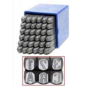 Schlagzahlen Set - 36 TLG. 0-9 und A-Z in 4-6 - 10 Millimeter (6 Millimeter)