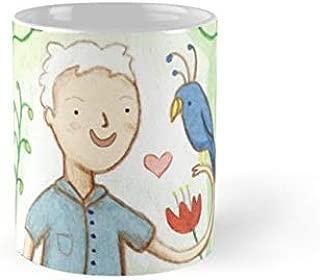 Sir David Attenborough & a Parrot Mug(One Size)