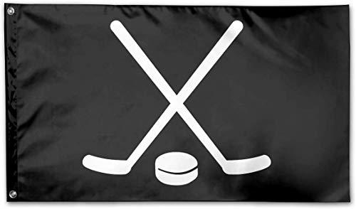 RJin92 Hockeyschläger Puck Outdoor Banner Hausgarten Fahnen Dekorative Fahnen 3X5 Polyester