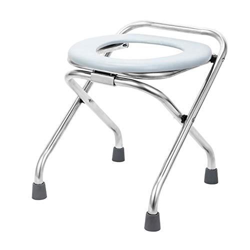 Draulic Toilettenstuhl Klappbar - Klappbarer Tragbarer Toilettensitz Für Die Toilette Tragbarer Töpfchenstuhl Bequemer Kommodenstuhl Perfekt Für Camping-Wanderungen