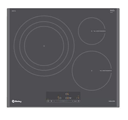 Balay 3EB967AU hobs Titanio Integrado Con - Placa (Titanio, Integrado, Con placa de inducción, 1400 W, Alrededor, 14,5 cm)