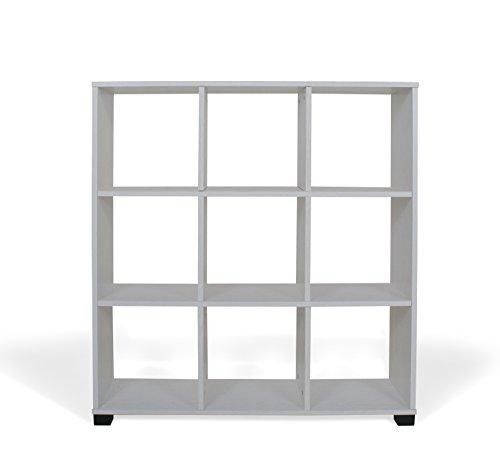 TrendyItalia 12972 Libreria Rovere Sbiancato, Legno, Bianco, 90 x 24 x 99.5 cm