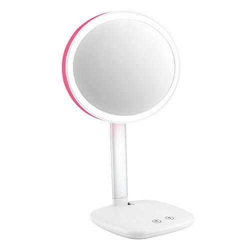 Cocoarm make-upspiegel met LED-verlichting touchscreen cosmeticaspiegel make-up spiegel staande spiegel dimbare batterij of USB opladen Wei?