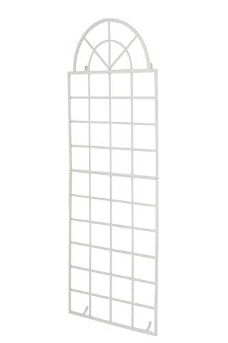 CLP Wand-Rankgitter Viva mit Rahmen I Rankgitter aus Eisen zur Wandbefestigung I erhältlich, Farbe:weiß