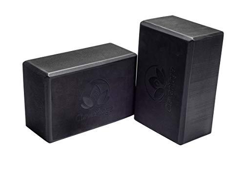 Yoga Blocks 2 Pack - Black Wide Yoga Blocks - Block Set