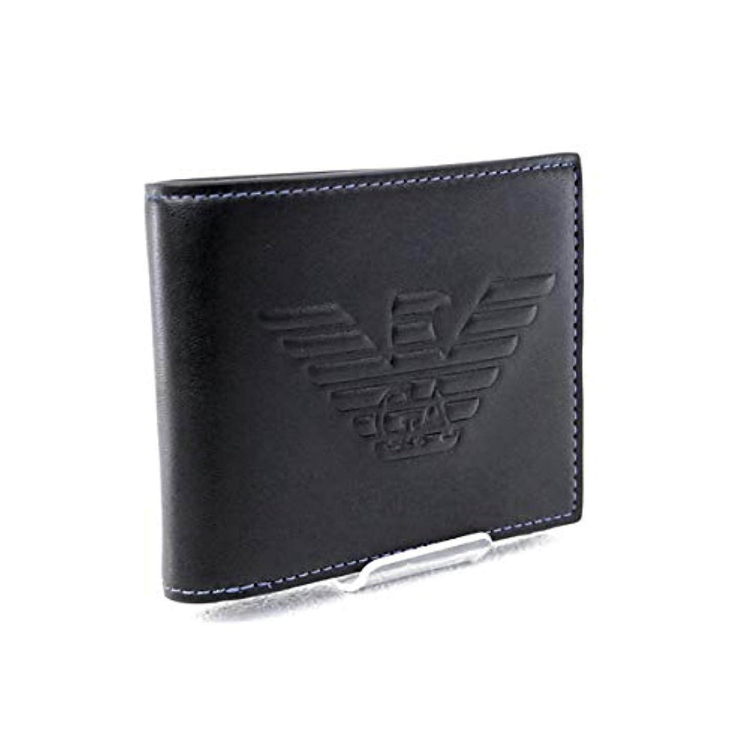 突撃スイ目の前の[エンポリオアルマーニ] EMPORIO ARMANI 財布 折財布 ブラック (Y4R167 YG90J 81072 BLACK) [並行輸入品]