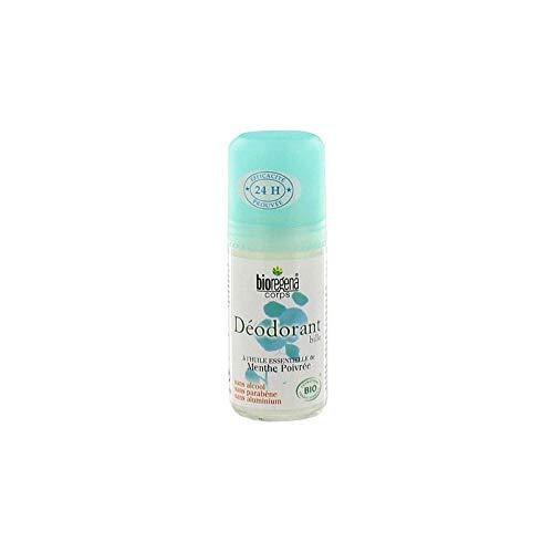 BIOREGENA - Déodorant bille à la menthe poivrée Bio 50ml