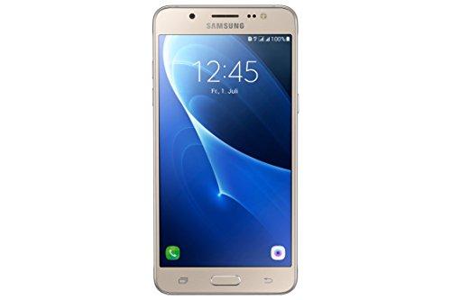 Samsung Galaxy J5 DUOS (2016) Smartphone (13,2 cm (5,2 Zoll) Touch-Bildschirm, 16 GB Speicher, Android 6.0) gold ohne Samsung Flip Wallet