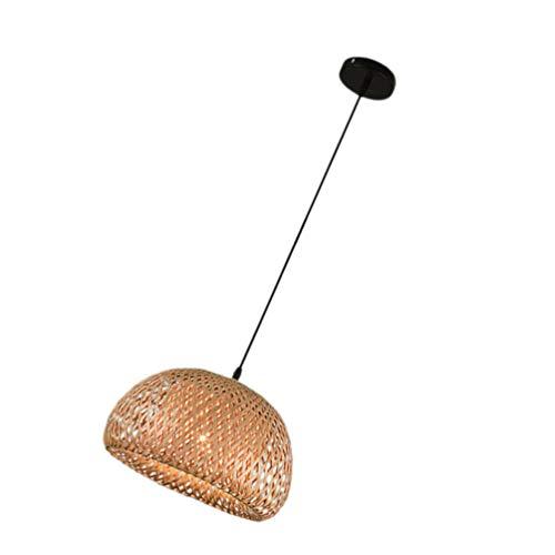 lampadario cupola PIXNOR Cesto di Rattan Soffitto Ciondolo Luce Ombra Cupola di bambù Lampadario di Vimini Paralume Appeso Decorazioni Rustico Lampada Giapponese per La Casa E Arredamento