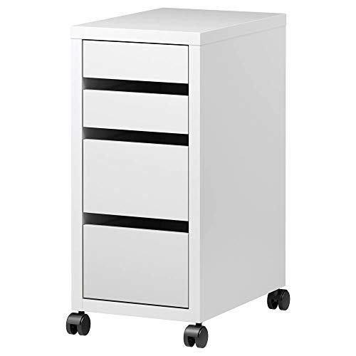 IKEA MICKE Office Schublade mit Rollen, Weiß 35x75 cm