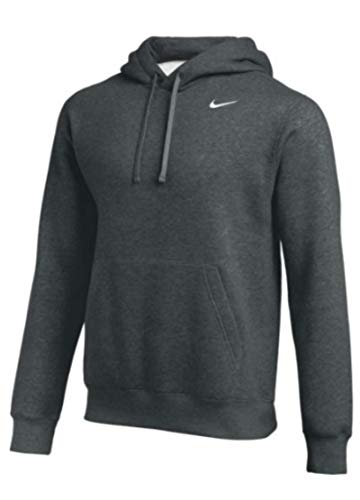 Nike Team Club Pullover Hoodie (Anthracite/White, Medium)