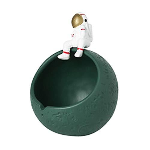 kiter Cenicero Cenicero de cerámica for el hogar Creativo de la Personalidad ceniceros de Mesa Bonitos Regalos Decoración del Arte Adornos cenicero Ceniza Bandeja (Color : Green)