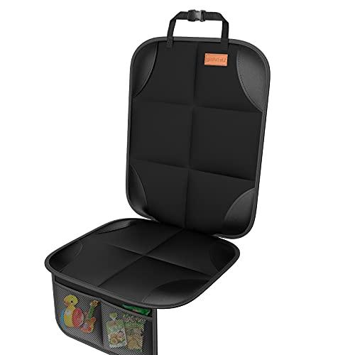 SUV 세단 트럭 가죽 및 직물 자동차 시트용 가장 두꺼운 패딩 및 논슬립 백킹 메쉬 포켓이 있는 어린이 시트용 스마트 ELF 대형 자동차 시트 보호기