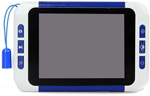 ZGYQGOO Tragbare Lupe 3,5-Zoll-bewegliches Digital Magnifier, 32X Visuelle Hilfsmittel-elektronische Sehhilfen Lesehilfe mit Halterung, Helligkeit einstellbar videolupe LCD