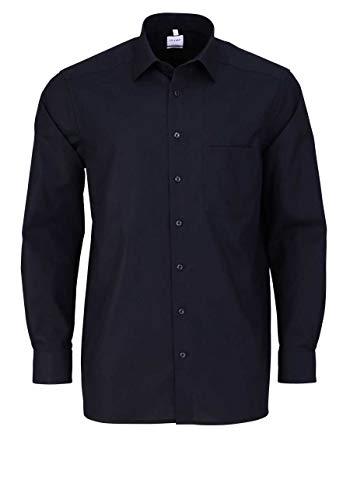 OLYMP Luxor Comfort fit Hemd Langarm mit New Kent Popeline schwarz Größe 45