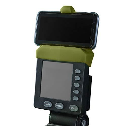 Handyhalterung für PM5-Monitore von Rudergerät, SkiErg und BikeErg - Silikon Fitness Produkte (grün)