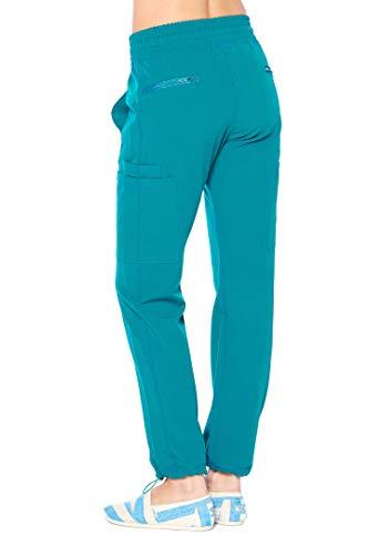 ANGEL UNIFORMS- Vicky 6-Pocket, Slim-Fit Stretch Scrub Pants with Elastic Waistband Medical L