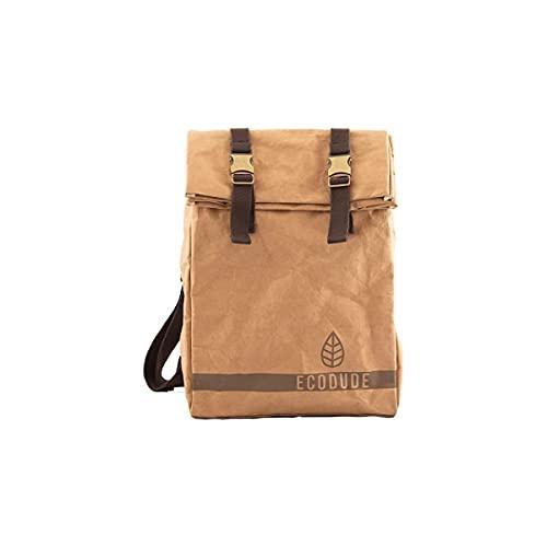 ECODUDE Arbor - Nachhaltiger Rucksack aus Papier in Lunchbag-Optik - Reißfest und Robust - Wasserabweisend und aus FSC-Zertifizierter Herkunft
