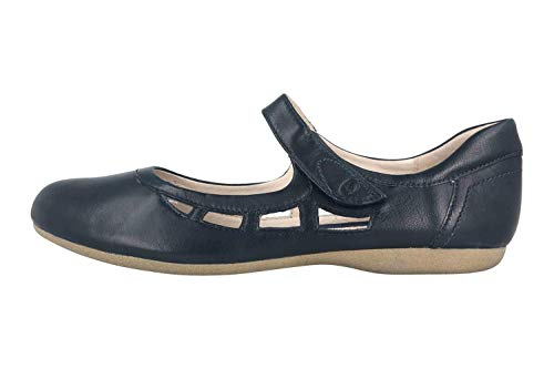 Josef Seibel Damen Riemchenballerinas Fiona 55,Weite G (Normal),spangenballerinas,Ladies,Women's,Woman,Flats,Slipper,Blau (Ocean),39 EU / 6 UK