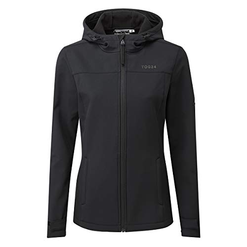 TOG 24 Keld Lightweight Womens Softshell Jacket, Windproof, Showerproof Zip Up Outdoor Jacket with Hood