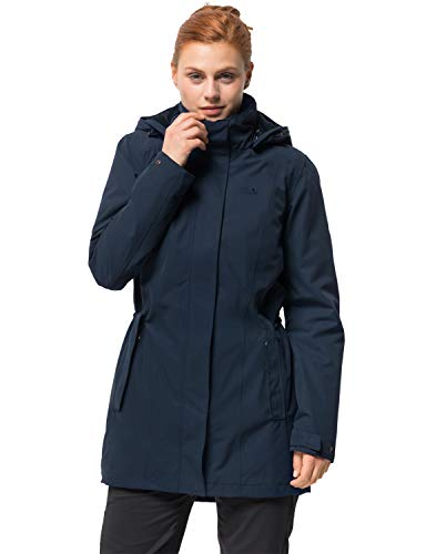 Jack Wolfskin Damen Madison Avenue Coat Mantel, Blau (midnight blue), L
