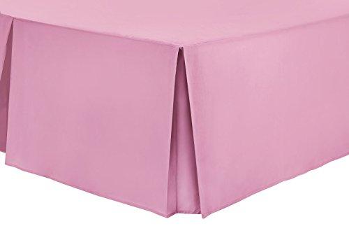 Nimsay Home Bettvolant aus Polyester-Baumwollmischgewebe, unifarben - King Size - Rose