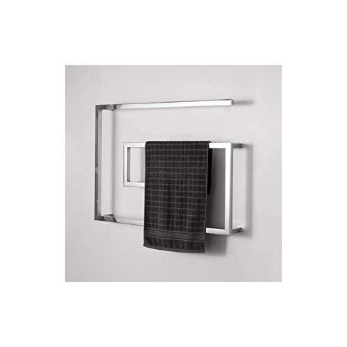 YYHAD Toallero eléctrico Radiador de Toallas con calefacción Radiador de radiador, Calentador de Secado de Toalla de Pared de Acero Inoxidable para baño, 80 × 60 × 11.5cm, Cromo (Color : Chrome)