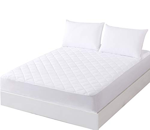 UYEESE Quilted Mattress Protector King Size - 152 x 203cm, Stretch Skirt Extra Deep (40cm)