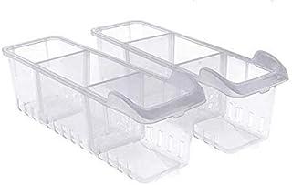 Bacs de Rangement Frigo (2Pack) - Congélateur Bacs Conteneurs Empilables (40cmx12cmx12cm) - Réfrigérateur Boîte Ranger Lég...