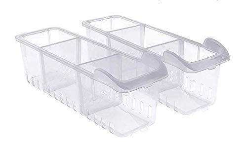 Kurelle Kühlschrank Aufbewahrungsbox (2 Stück) - Kühlschrankschubladen (40cmx12cmx12cm) - Kühlschrank Organizer - Lebensmittel Aufbewahrungsbehälter fur Küchen, Regalen, Kühlschrank