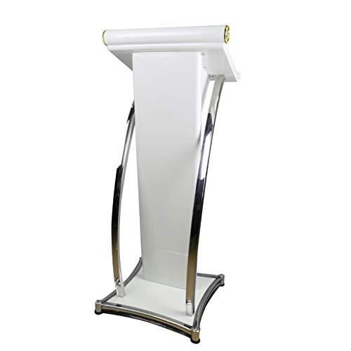 PODIUM Podio di Presentazione in Legno Moderno, Stand-up Leggio Conferenza Seminario Podio Multimediale Pilastro in Acciaio Inossidabile Pilastro Curvo per Chiese
