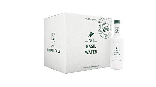 No.1 Botanicals Basilikum-Wasser – Erfrischendes Sprudelwasser mit Basilikum-Extract - Zuckerfrei, Keine Künstlichen Süßstoffe – Softdrink oder Cocktail Mixer (12x330ml)
