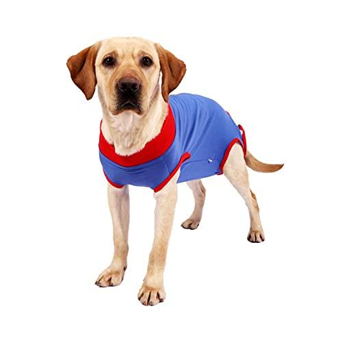 AUTUUCKEE Traje de recuperación para perros y gatos después de la cirugía, mono antilamido, camisa de recuperación para hombre y mujer, transpirable (tamaño: 3XL)