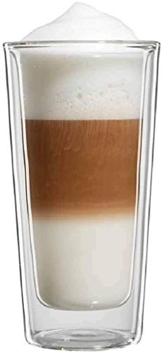 bloomix Milano Latte Macchiato Grande 350 ml, doppelwandige Thermo-Kaffeegläser im 2er-Set